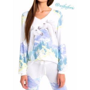 Wildfox Wild & Free BBJ Sweatshirt L
